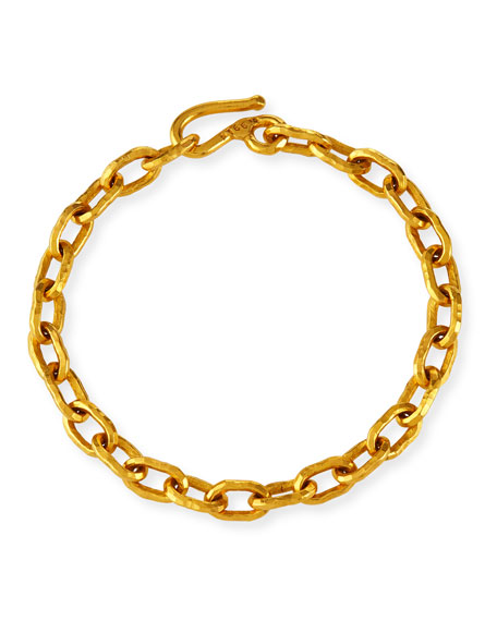 Jean Mahie Cadene 22k Link Bracelet