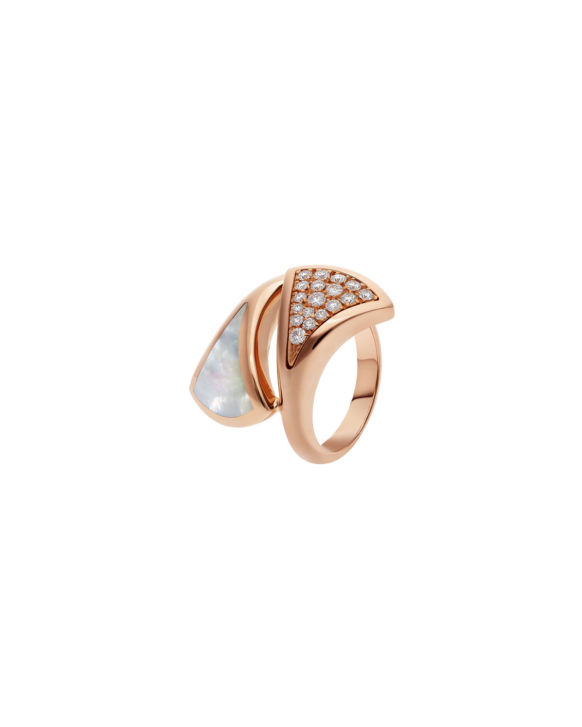 Divas' Dream 18k Rose Gold Mother-of-Pearl and Diamond Ring