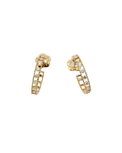 Allegra 18k Rose Gold Small Diamond Hoop Earrings
