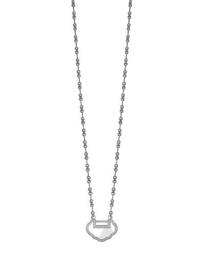Small Yu Yi 18K White Gold Necklace with Diamonds