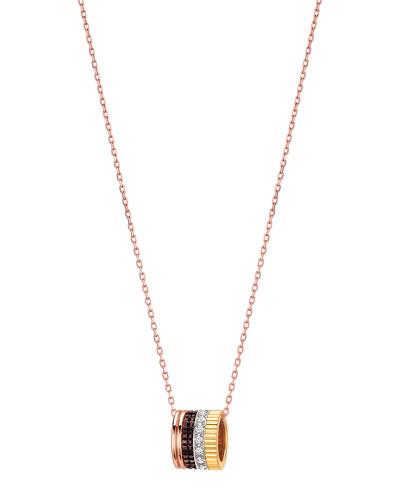 Diamond Quatre Mini Ring Pendant Necklace