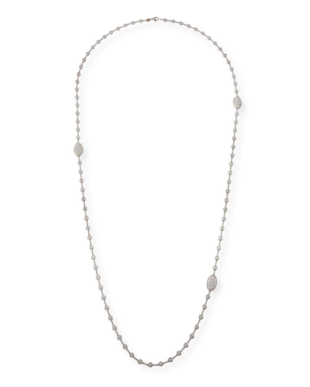 CRIVELLI 18K White Gold Diamond Station Necklace