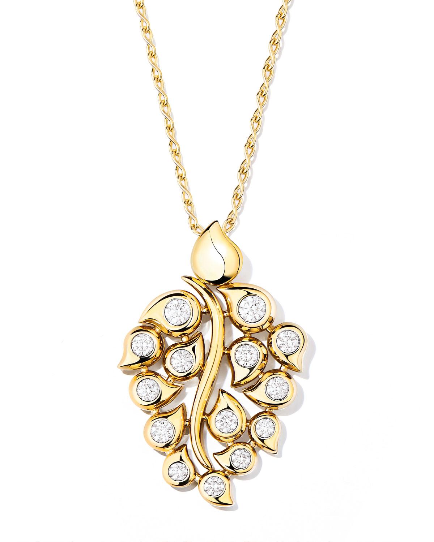 Snowflakes Diamond Pendant in 18k Yellow Gold