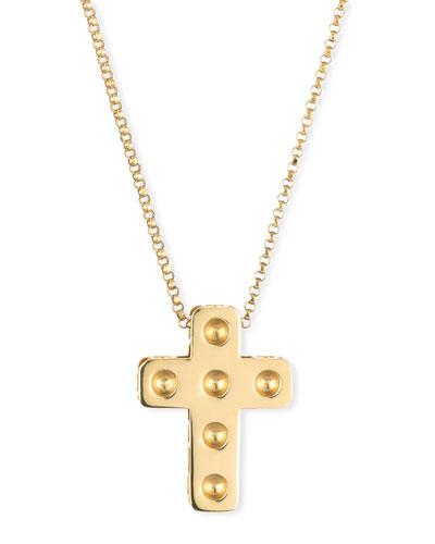 18K Gold Pois Mois Cross Necklace
