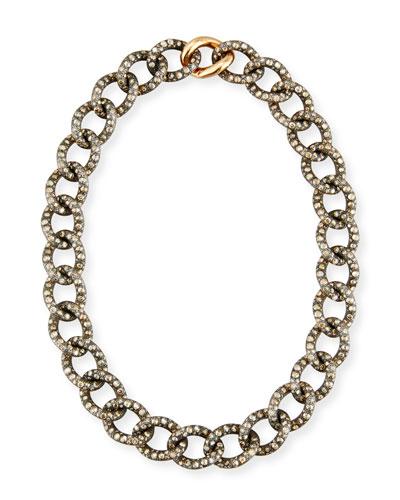 Tango Brown & Black Diamond Link Necklace