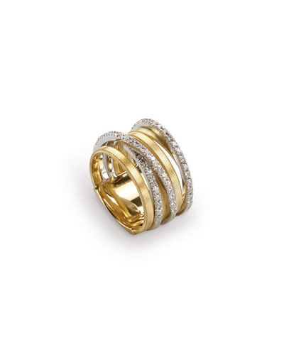 Goa Seven-Row Ring with Diamonds