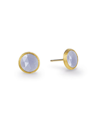 Jaipur 18K Chalcedony Stud Earrings