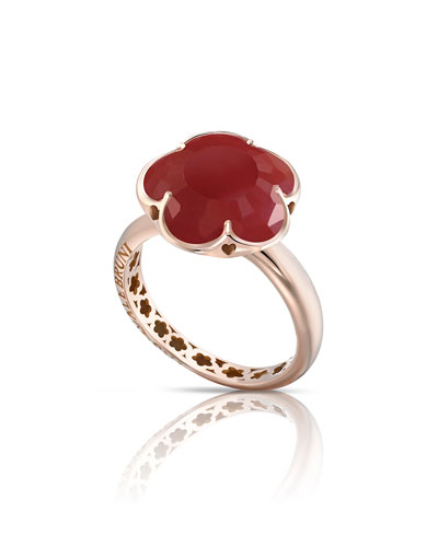 Bon Ton Carnelian Ring in 18K Rose Gold