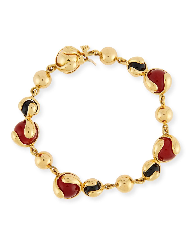 Classic Agate & Spinel Beaded Bracelet