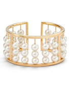 Akoya Pearl Abacus Bangle Bracelet