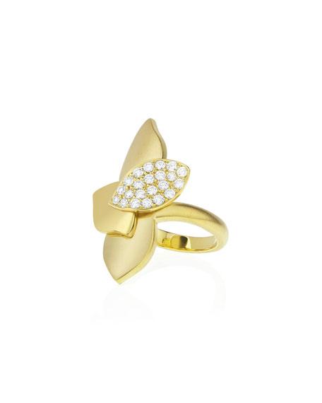 Carelle Lotus Diamond Pave North-South Ring
