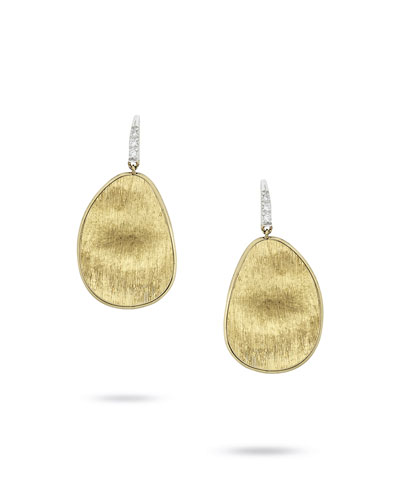 Lunaria Drop Earrings with Diamonds