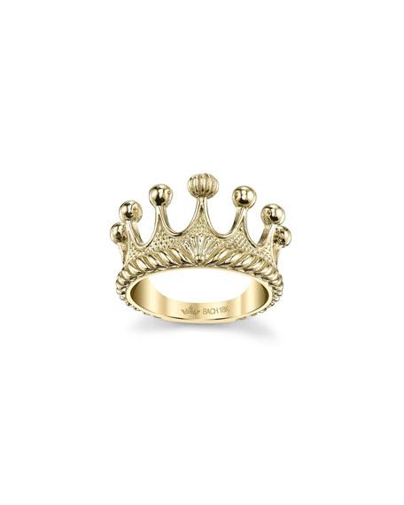 Cynthia Bach 18k Gold Princess Tiara Ring, Size 6.75