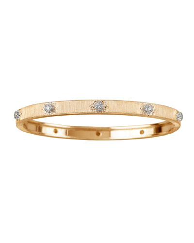 Macri 18k Yellow Gold Diamond Bangle Bracelet