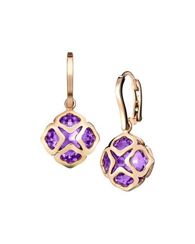 Imperiale Amethyst Drop Earrings in 18K Rose Gold