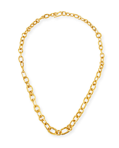 Jean Mahie 22k Chain-Link Necklace