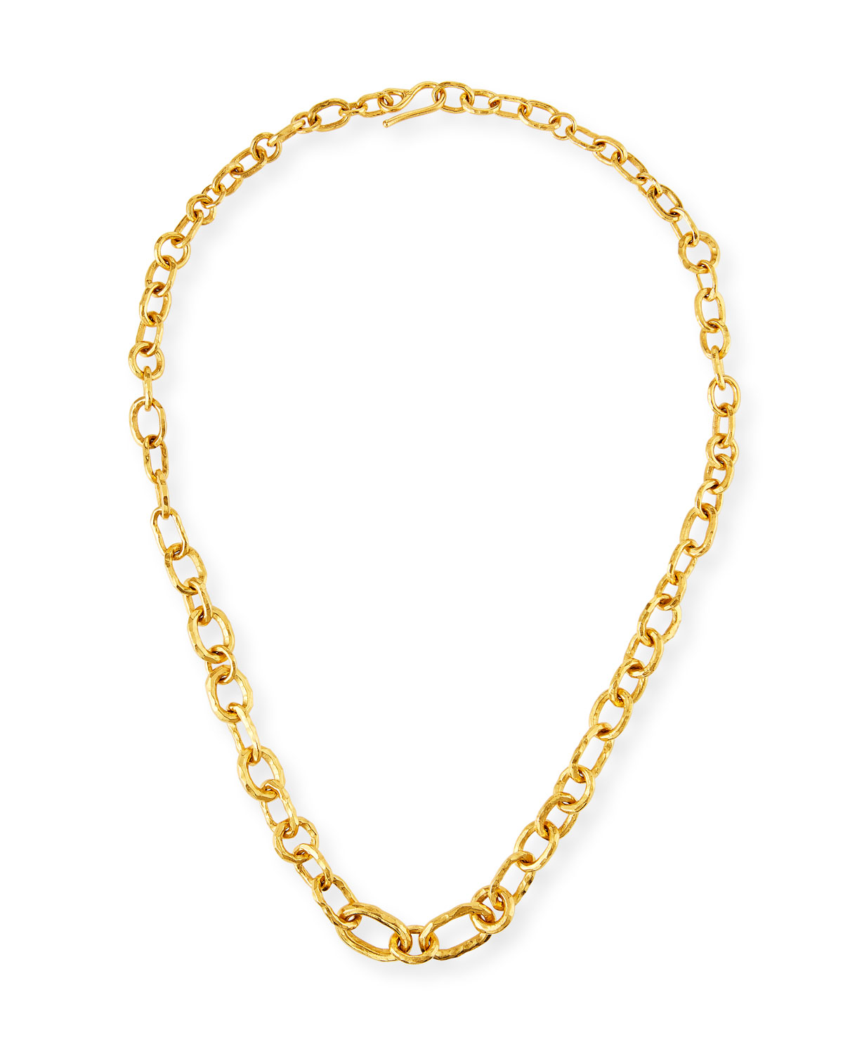 22k Chain-Link Necklace