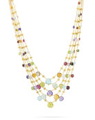 Paradise Five-Strand Mixed-Stone Necklace, 16.5""