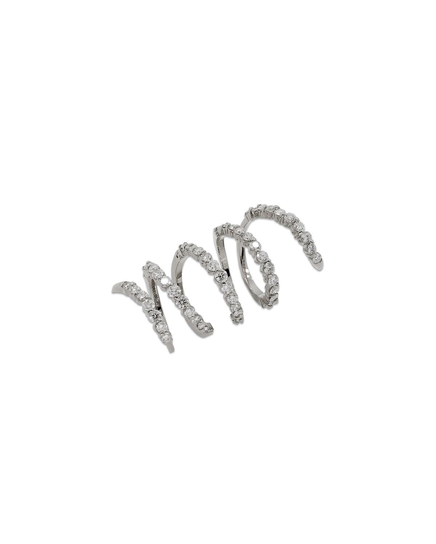 STAURINO FRATELLI MAGIC SNAKE 18K WHITE GOLD SPIRAL RING WITH DIAMONDS
