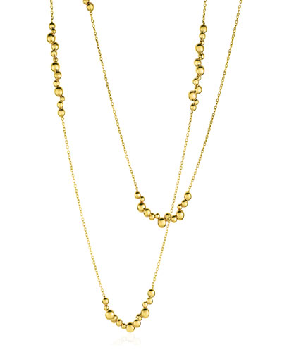 Mini Atomo Necklace in 18K Gold, 42