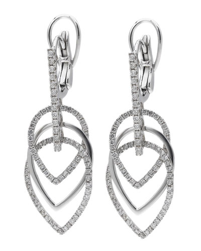 18k White Gold Diamond Multi-Drop Earrings