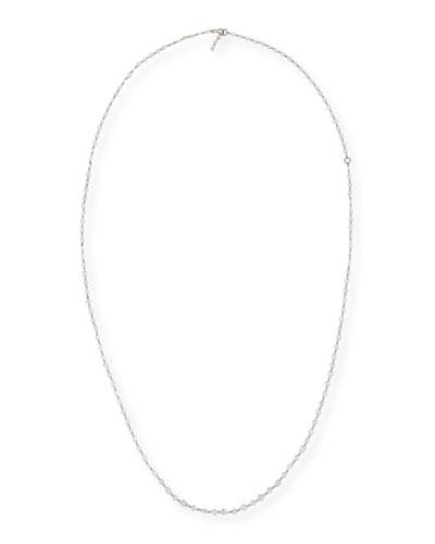 Rose-Cut Diamond Strand Necklace in Platinum