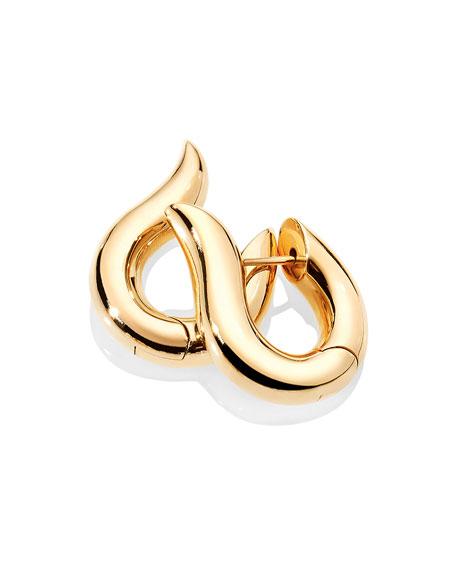Tamara Comolli Signature 18k Yellow Gold Medium Hoop Earrings