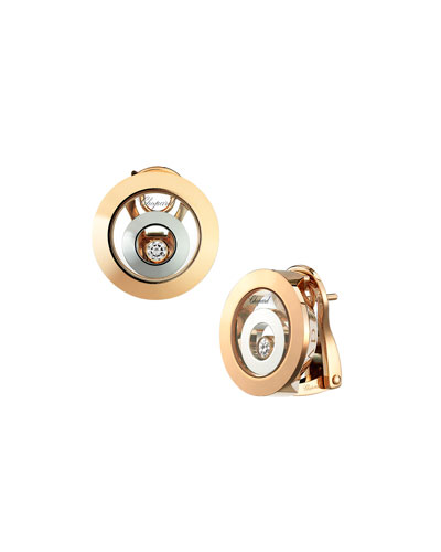 Happy Spirit 18k Two-Tone Diamond Circle Earrings