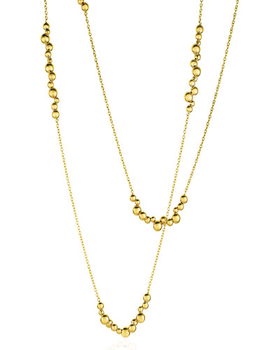 Atomo 18k Yellow God Long Cluster Necklace