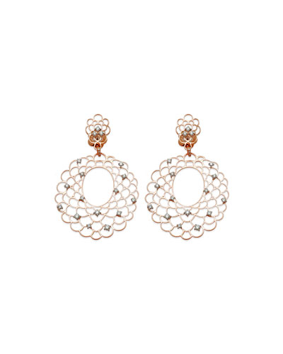 Moresca Chandelier Earrings with Diamonds in 18K Rose Gold