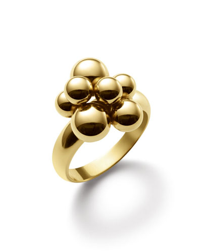MARINA B MINI ATOMO 18K GOLD RING, SIZE 6.5