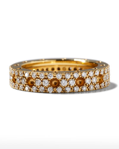 Pois Moi 18k Diamond Pave Round Ring, Size 7