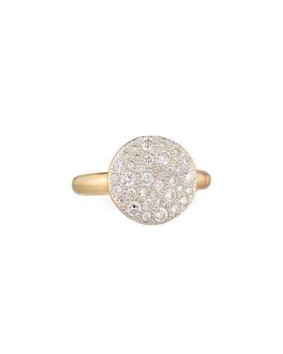 Sabbia 18k Rose Gold & White Diamond Ring, Size 53