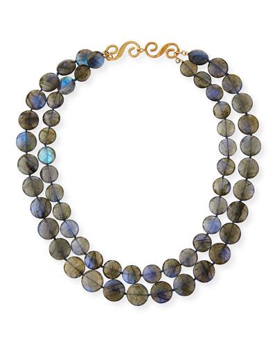 18k Two-Row Labradorite Necklace