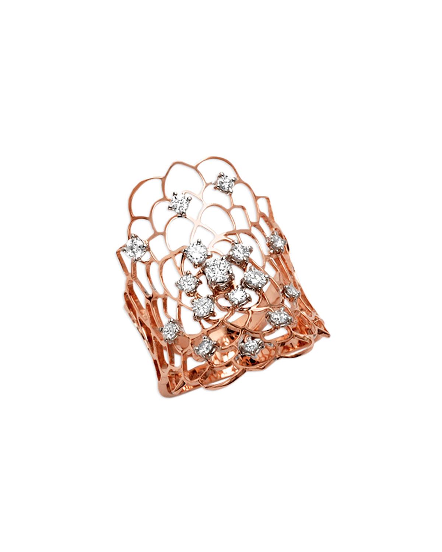 STAURINO FRATELLI MORESCA DRAGONFLY 18K ROSE GOLD & DIAMOND RING