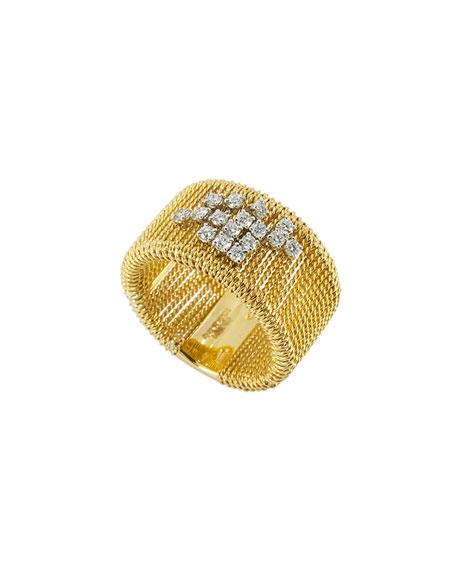 Staurino 18k Gold Renaissance Dancing Diamond Ring, Size 7.5