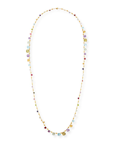 Paradise Long Mixed-Stone Necklace, 48