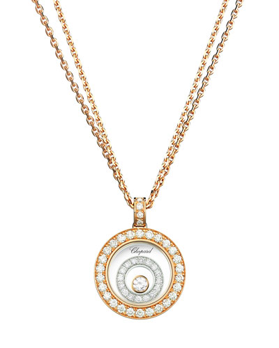 Happy Spirit 18k Two-Tone Diamond Long Pendant Necklace, 0.72tcw