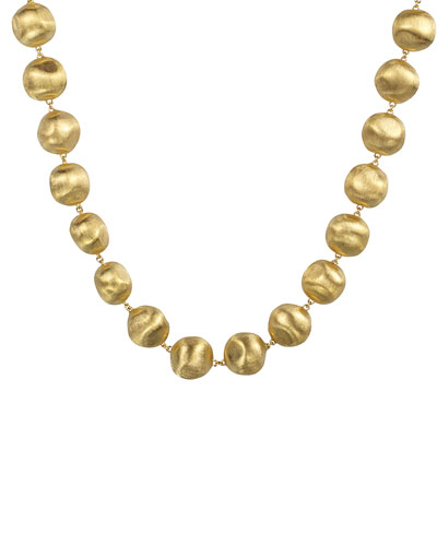 Africa Beaded 18K Necklace, 18