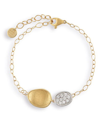 Lunaria Two-Pendant Bracelet with Diamonds