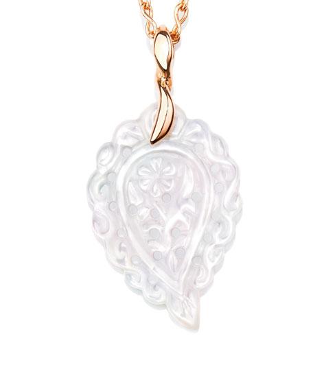 Tamara Comolli India Leaf Pendant in 18K Rose Gold