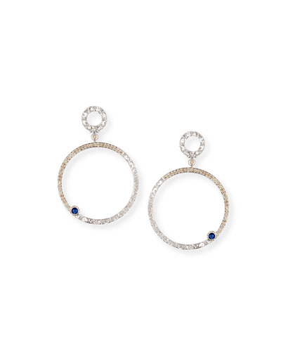 Marco Dal Maso 18K Gold Hoop Earrings with Diamonds & Onyx VIZMByHVCo
