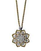 Rombi Diamond Charm Necklace