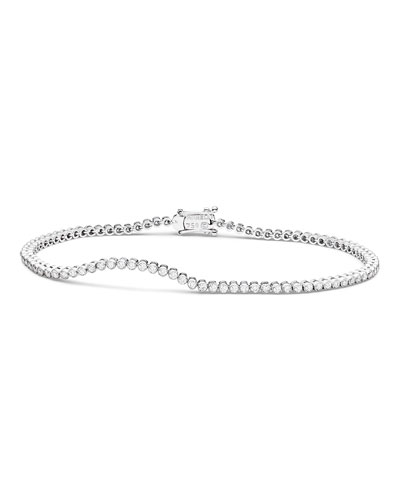 Diamond Stitch Bracelet in 18K White Gold