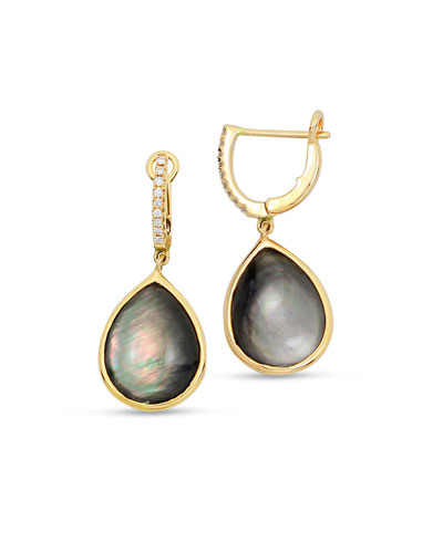 Luna 18k Gold Black Mother-of-Pearl Earrings