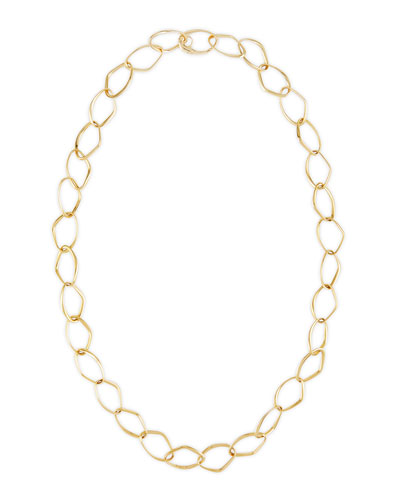 New Essentials 18k Gold Abstract Link Necklace, 32