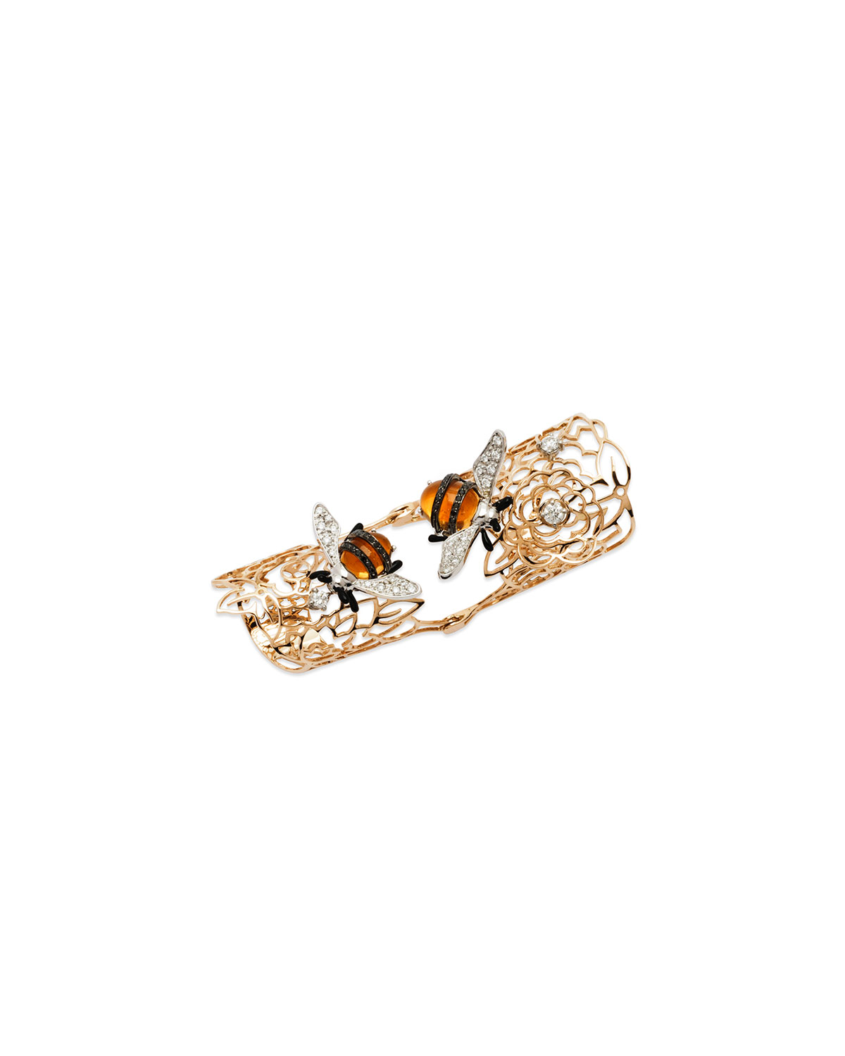 STAURINO FRATELLI 18K Rose Gold Moresca Bumble Bee Hinged Ring