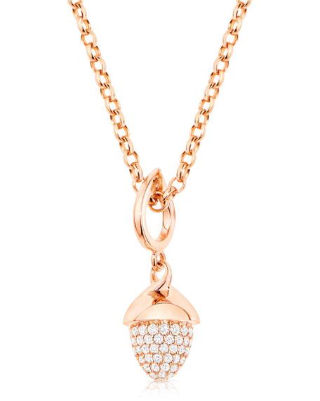 Tamara Comolli MIKADO FLAMENCO 18K Rose Gold Diamond Pave Pendant