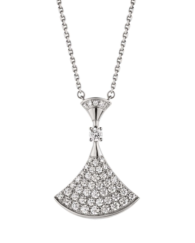 Divas' Dream Diamond Pendant Necklace in 18k White Gold