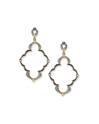Old World Open Scroll Dulcinea Earrings with Diamonds